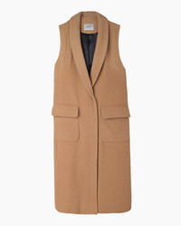 Camel Sleeveless Coat
