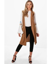 Boohoo Ali Woven Sleeveless Pocket Duster