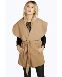 Boohoo Ivy Sleeveless Belted Coat