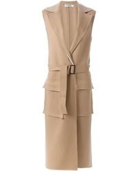 Jil Sander Sleeveless Belted Coat