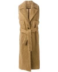 MSGM Sleeveless Belted Coat