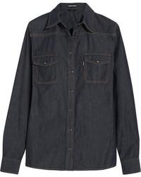 Camisa azul marino de Tom Ford