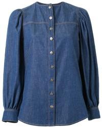 Camisa azul de Sonia Rykiel