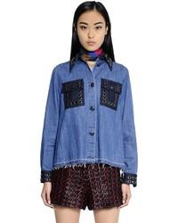 Camisa con adornos azul de Sonia Rykiel