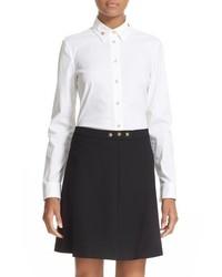 Camisa con Adornos Blanca de RED Valentino