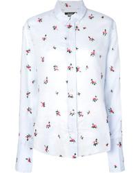 Camisa con print de flores celeste de Isabel Marant