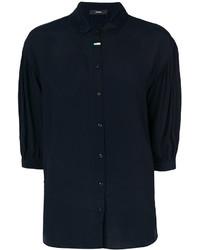 Camisa de Encaje Azul Marino de Diesel