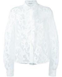 Camisa de encaje con print de flores blanca de Sonia Rykiel