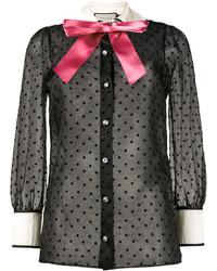 Camisa de estrellas negra de Gucci