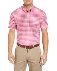 3c612c2d3f Comprar una camisa de manga corta a cuadros rosada  elegir camisas ...