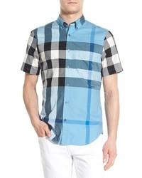 Camisa de manga corta azul de Burberry