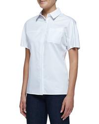 Camisa de manga corta blanca