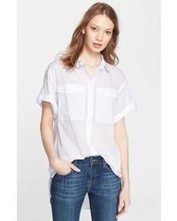 Camisa de manga corta blanca de Burberry