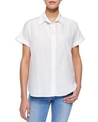 Camisa de manga corta blanca de Frame Denim