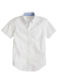 Camisa de manga corta blanca de J.Crew