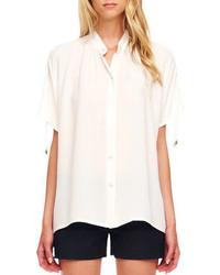 Camisa de Manga Corta Blanca de Michael Kors