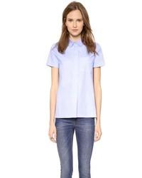 Camisa de manga corta celeste de Victoria Beckham
