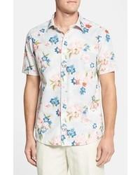 Camisa de manga corta con print de flores blanca de Tommy Bahama