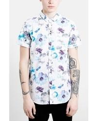 Camisa de manga corta con print de flores blanca de Topman