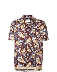 Camisa de manga corta con print de flores burdeos de Low Brand