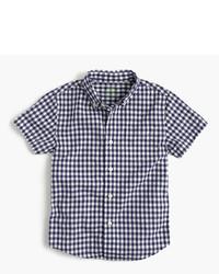 Camisa de manga corta de cuadro vichy azul marino de J.Crew