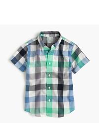 Camisa de manga corta de cuadro vichy gris de J.Crew