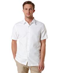 Camisa de Manga Corta de Lino Blanca