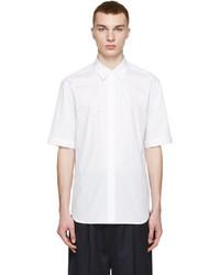 Camisa de manga corta de rayas verticales blanca de 3.1 Phillip Lim