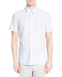 Camisa de manga corta de rayas verticales blanca de J. Lindeberg