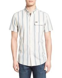 Camisa de manga corta de rayas verticales blanca de Volcom
