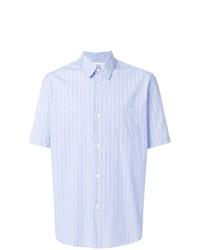 Camisa de manga corta de rayas verticales celeste de Our Legacy
