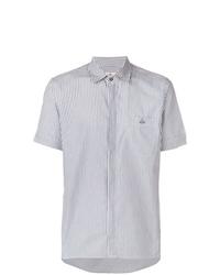 Camisa de manga corta de rayas verticales celeste de Vivienne Westwood