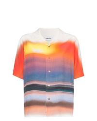 Camisa de manga corta efecto teñido anudado naranja de Ambush