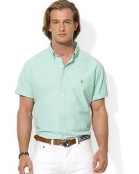 Camisa de manga corta en verde menta