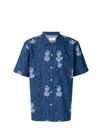 Camisa de Manga Corta Estampada Azul Marino de Kenzo  dónde comprar ... 9a939765656