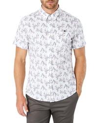 Camisa de manga corta estampada blanca
