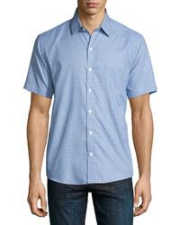 Camisa de manga corta estampada celeste de Zachary Prell