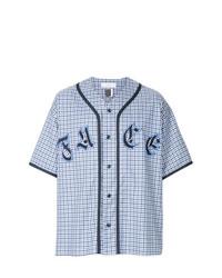 Camisa de manga corta estampada en blanco y azul de Facetasm