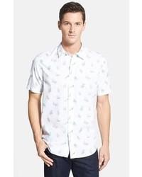 Camisa de manga corta estampada en blanco y azul de Tommy Bahama
