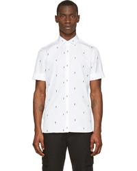 Camisa de manga corta estampada en blanco y negro