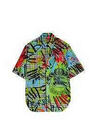 Camisa de manga corta estampada en multicolor de Burberry