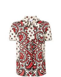 Camisa de manga corta estampada en multicolor de RED Valentino