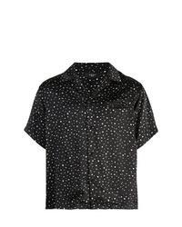 Camisa de manga corta estampada en negro y blanco de Amiri