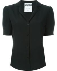 Camisa de manga corta negra de Moschino