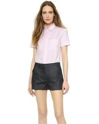 Camisa de manga corta rosada de Victoria Beckham