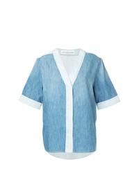 Camisa de manga corta vaquera celeste de Golden Goose Deluxe Brand