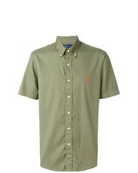 Camisa de manga corta verde oliva de Ralph Lauren