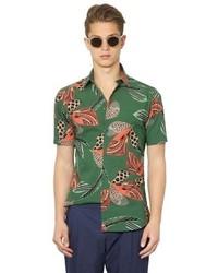 Camisa de manga corta verde oscuro