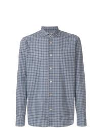 Camisa de manga larga a cuadros azul de Borriello