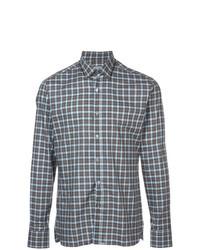 Camisa de manga larga a cuadros azul de Lanvin